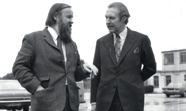 Pic of Colin Young with Lord Eccles 1971