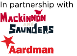 Mackinnon and Saunders and Aardman logos