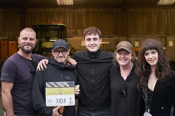 Pic of Suzie Lavelle and crew on set of Normal People